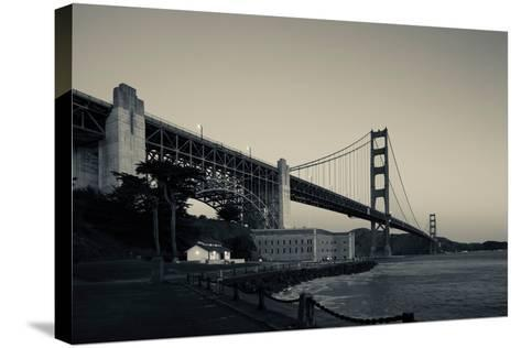 Golden Gate Bridge from Fort Point at Dawn, Golden Gate National Recreation Area--Stretched Canvas Print