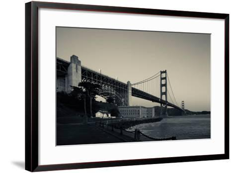 Golden Gate Bridge from Fort Point at Dawn, Golden Gate National Recreation Area--Framed Art Print