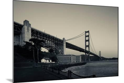 Golden Gate Bridge from Fort Point at Dawn, Golden Gate National Recreation Area--Mounted Photographic Print