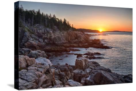Rocks on the Coast at Sunrise, Little Hunters Beach, Acadia National Park, Maine, USA--Stretched Canvas Print