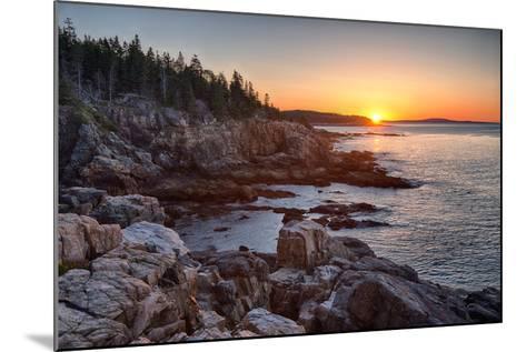 Rocks on the Coast at Sunrise, Little Hunters Beach, Acadia National Park, Maine, USA--Mounted Photographic Print