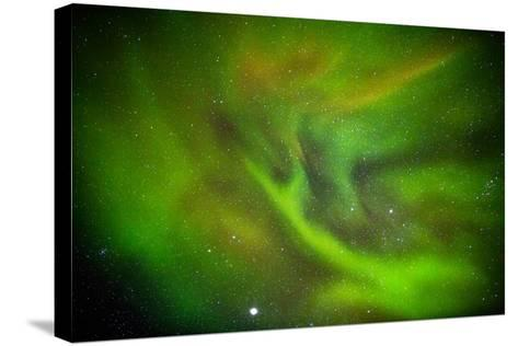 Alien Like Patterns in the Auroras, Aurora Borealis or Northern Lights, Lapland,Sweden--Stretched Canvas Print