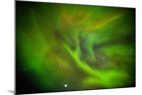 Alien Like Patterns in the Auroras, Aurora Borealis or Northern Lights, Lapland,Sweden--Mounted Photographic Print
