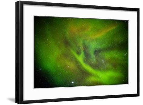 Alien Like Patterns in the Auroras, Aurora Borealis or Northern Lights, Lapland,Sweden--Framed Art Print