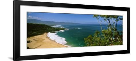 Aerial View of a Beach, North Shore, Oahu, Hawaii, USA--Framed Art Print