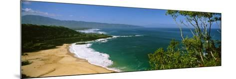 Aerial View of a Beach, North Shore, Oahu, Hawaii, USA--Mounted Photographic Print