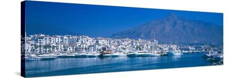 Boats at a Harbor, Puerto Banus, Marbella, Costa Del Sol, Malaga Province, Andalusia, Spain--Stretched Canvas Print