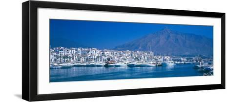 Boats at a Harbor, Puerto Banus, Marbella, Costa Del Sol, Malaga Province, Andalusia, Spain--Framed Art Print