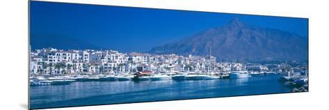 Boats at a Harbor, Puerto Banus, Marbella, Costa Del Sol, Malaga Province, Andalusia, Spain--Mounted Photographic Print