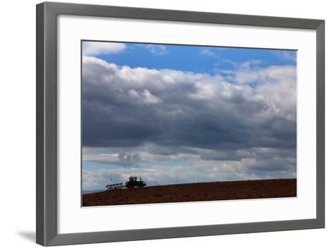 Tractor Ploughing Field, Near Fenor, County Waterford, Ireland--Framed Art Print