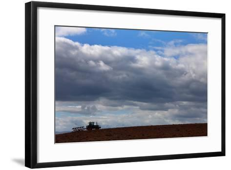 Tractor Ploughing Field, Near Fenor, County Waterford, Ireland--Framed Art Print