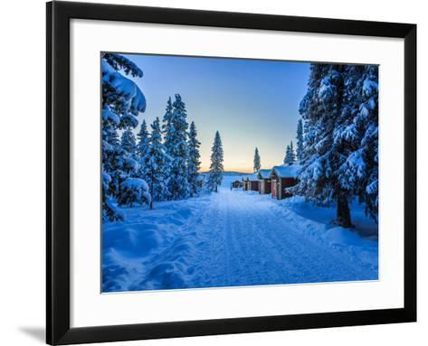 Empty Road Close to the Icehotel, Jukkasjarvi, Lapland Sweden--Framed Art Print