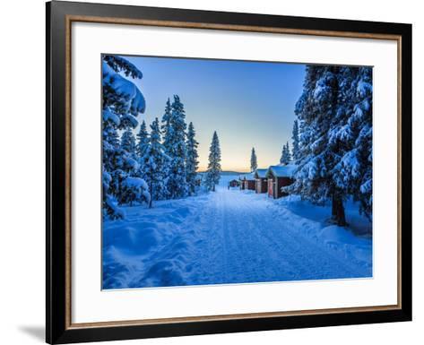 Empty Road Close to the Icehotel, Jukkasjarvi, Lapland Sweden--Framed Art Print