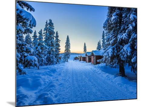 Empty Road Close to the Icehotel, Jukkasjarvi, Lapland Sweden--Mounted Photographic Print