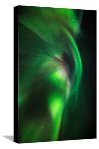 Aurora Borealis or Northern Lights, Lapland,Sweden--Stretched Canvas Print