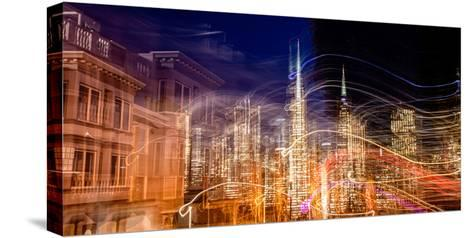 Abstract View of San Francisco's Financial District from Telegraph Hill at Dusk, San Francisco--Stretched Canvas Print