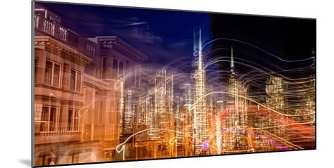 Abstract View of San Francisco's Financial District from Telegraph Hill at Dusk, San Francisco--Mounted Photographic Print