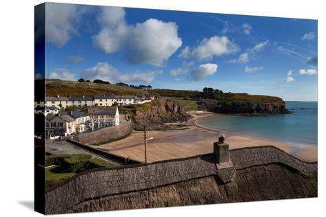 The Strand Inn and Dunmore Strand, County Waterford, Ireland--Stretched Canvas Print