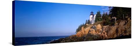 Lighthouse at the Coast, Bass Head Lighthouse, Acadia National Park, Mount Desert Island, Maine--Stretched Canvas Print