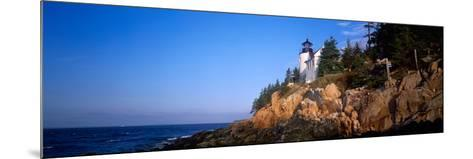 Lighthouse at the Coast, Bass Head Lighthouse, Acadia National Park, Mount Desert Island, Maine--Mounted Photographic Print