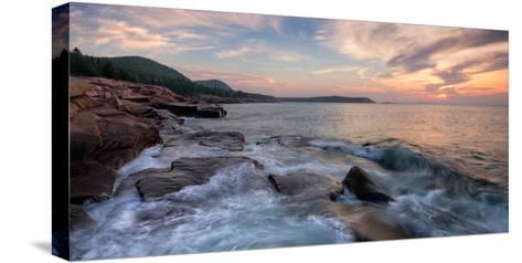 Morning Surf at Coast, Acadia National Park, Maine, USA--Stretched Canvas Print