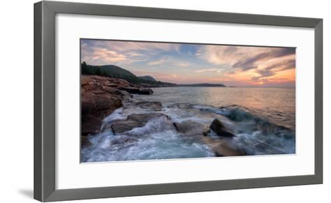 Morning Surf at Coast, Acadia National Park, Maine, USA--Framed Art Print