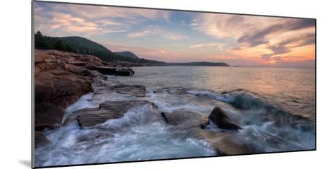 Morning Surf at Coast, Acadia National Park, Maine, USA--Mounted Photographic Print