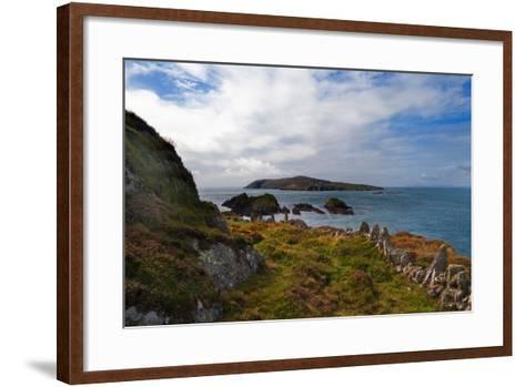 Cape Clear Island from Sherkin Island, County Cork, Ireland--Framed Art Print