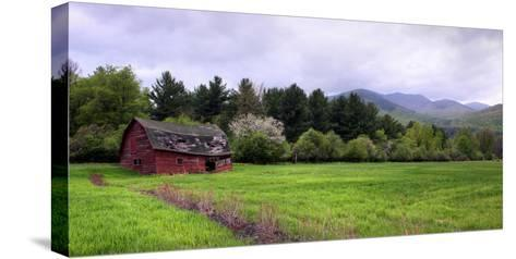 Barn in Keene Valley in Spring Adirondack Park, New York State, USA--Stretched Canvas Print