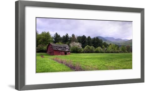 Barn in Keene Valley in Spring Adirondack Park, New York State, USA--Framed Art Print
