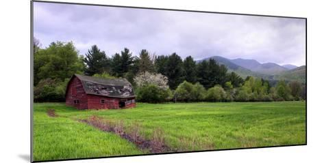 Barn in Keene Valley in Spring Adirondack Park, New York State, USA--Mounted Photographic Print
