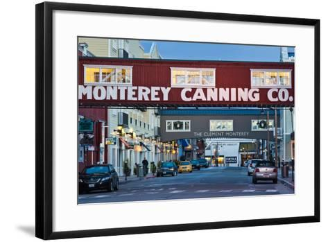 Cannery Row Area at Dawn, Monterey, California, USA--Framed Art Print