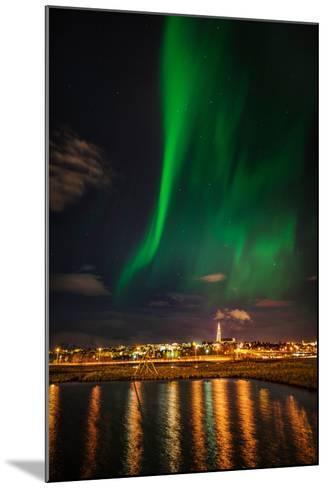 Aurora Borealis or Northern Lights, Reykjavik, Iceland--Mounted Photographic Print