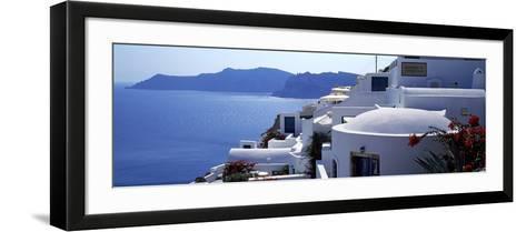 Town on an Island, Oia, Santorini, Cyclades Islands, Greece--Framed Art Print