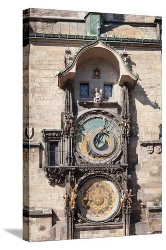 Astronomical Clock at the Old Town Hall, Prague Old Town Square, Prague, Czech Republic--Stretched Canvas Print