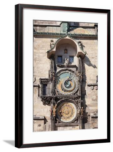 Astronomical Clock at the Old Town Hall, Prague Old Town Square, Prague, Czech Republic--Framed Art Print