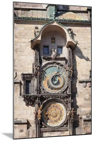 Astronomical Clock at the Old Town Hall, Prague Old Town Square, Prague, Czech Republic--Mounted Photographic Print