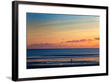 Walking the Dog, Tramore, County Waterford, Ireland--Framed Art Print
