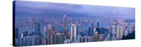 Aerial View of a City, Hong Kong, China--Stretched Canvas Print