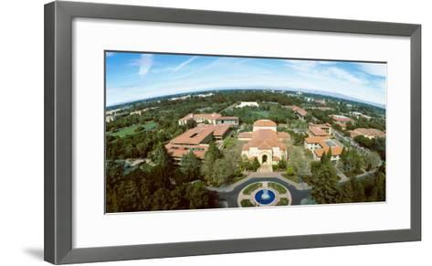 Aerial View of Stanford University, Stanford, California, USA--Framed Art Print