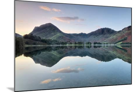Reflection of Mountains in the Lake, Buttermere Lake, English Lake District, Cumbria, England--Mounted Photographic Print