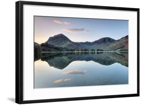 Reflection of Mountains in the Lake, Buttermere Lake, English Lake District, Cumbria, England--Framed Art Print
