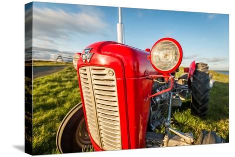 Farm Tractor, Flatey Island, Borgarfjordur, Iceland--Stretched Canvas Print