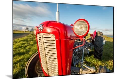 Farm Tractor, Flatey Island, Borgarfjordur, Iceland--Mounted Photographic Print