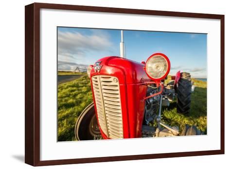 Farm Tractor, Flatey Island, Borgarfjordur, Iceland--Framed Art Print