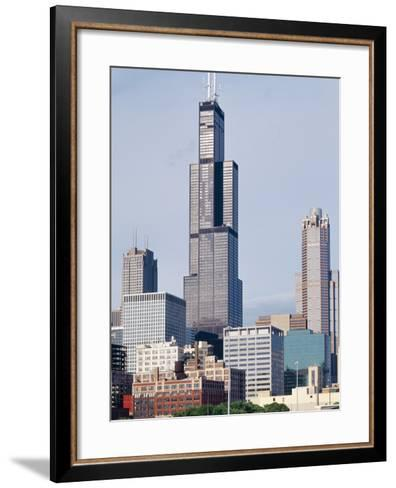 Buildings in a City, Willis Tower, Chicago, Cook County, Illinois, USA--Framed Art Print