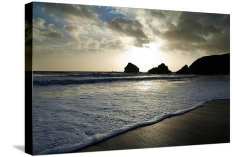 Sunset on Ballydowane Beach, Bunmahon, County Waterford, Ireland--Stretched Canvas Print