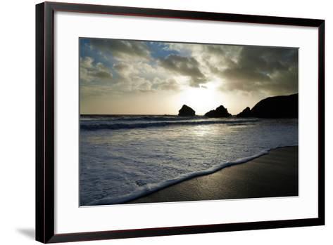 Sunset on Ballydowane Beach, Bunmahon, County Waterford, Ireland--Framed Art Print
