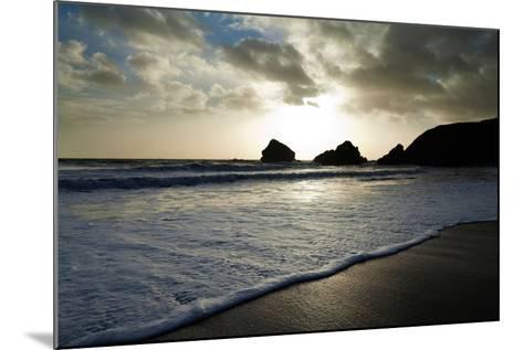 Sunset on Ballydowane Beach, Bunmahon, County Waterford, Ireland--Mounted Photographic Print