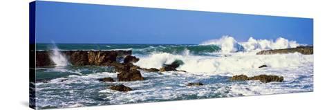 Waves Breaking at Rocks, Hawaii, USA--Stretched Canvas Print